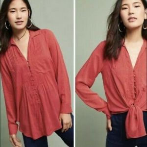 Anthropologie Maeve Red Button Down. Size:…
